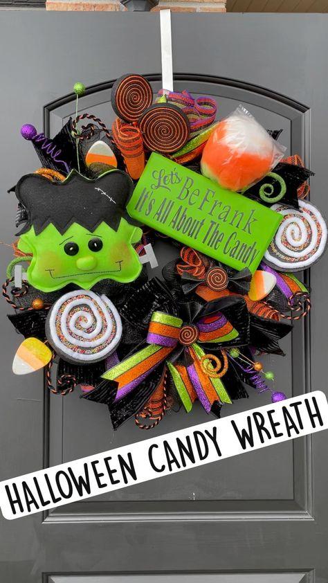 HALLOWEEN CANDY WREATH: Wreaths by Waldo
