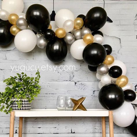 Black Gold And Silver Decorations  from i.pinimg.com