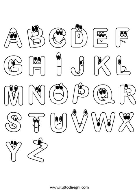 Disegni Di Lettere Alfabeto Da Colorare Dellalfabeto Pictures