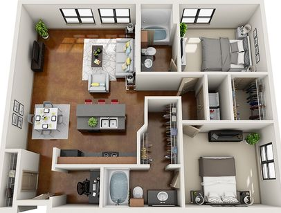 3d Furnished Sims House Design Sims House Plans House Layout Plans