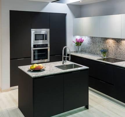 Muebles oscuros para destacar otros elementos de la cocina ...