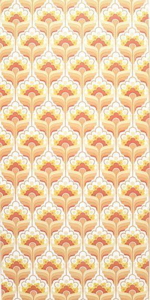 60er 70er Tapete 1206 Retro Druck Tapeten Vintage Wallpaper