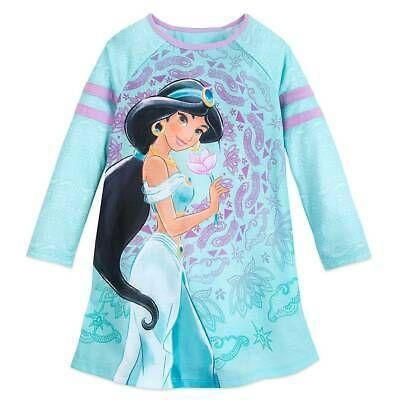 NWT Disney Store Jasmine Nightshirt Girl Pjs Pajama Aladdin 3,4,5//6,7//8