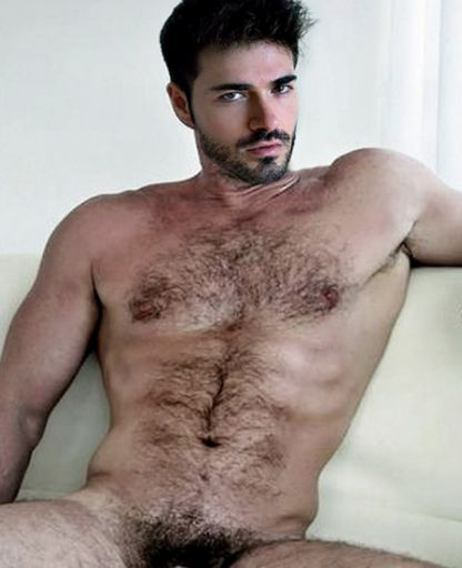 Nude hairy male