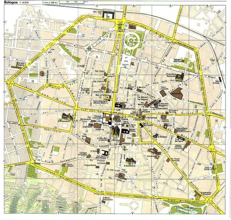 Bologna Map Tourist Attractions ITALY 2017 Pinterest Bologna