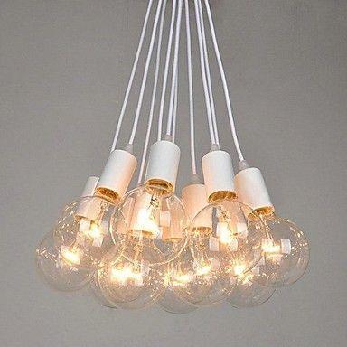 North American Country Edison Bulbs Art Chandelier - USD $ 239.99