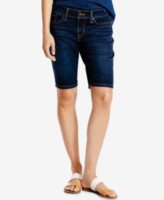 LEVI'S Levi'S® Hemmed Denim Bermuda Shorts. #levis #cloth # shorts