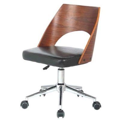 Dustin Office Chair Black Walnut Wooden Office Chair Desk Chair