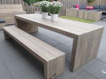 Gartentisch Holztisch Gartenbank Sitzterrasse Garten Rustic Outdoor Furniture Diy Outdoor Furniture Diy Outdoor Table