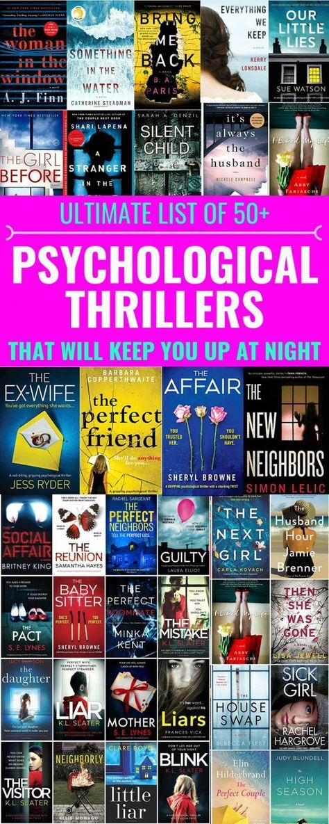 Ultimate List Of 50+ Psychological Thrillers To Read