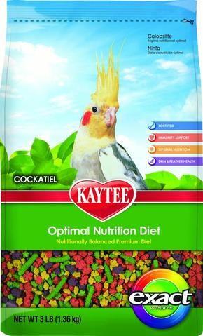 Kaytee Exact Rainbow Cockatiel Bird Food 3 Lb Nutrition Diet And Nutrition Optimum Nutrition Recipes