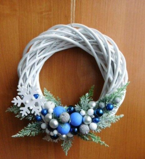Piekny Wianek Na Drzwi Stroik Boze Narodzenie 7680793900 Oficjalne Archiwum Allegro Diy Christmas Gifts Christmas Diy Wreaths