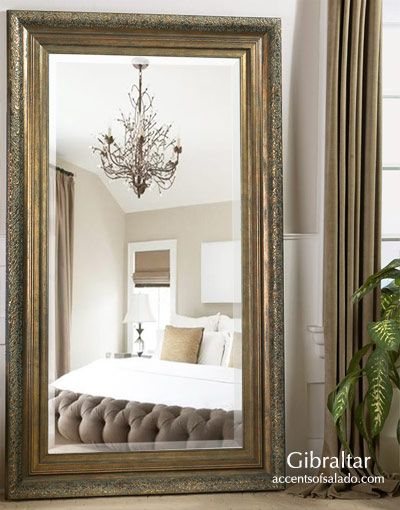 Rustic Tuscan Furniture Tall Oversized Floor Mirrors | Home is ...