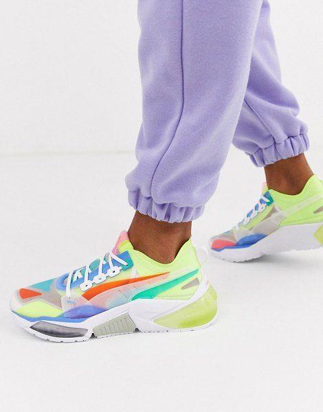 Multi coloured trainers, Puma shoes