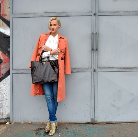 My old love, my peachy coat by Marc Jacobs ❤ www.janatini.com