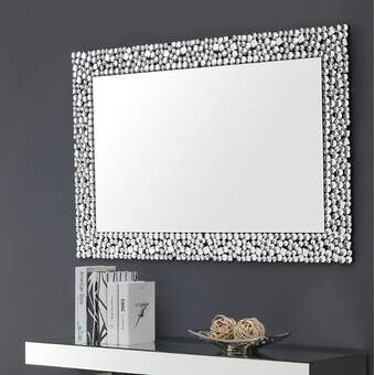 Best Quality Furniture Rectangular Crystal Wall Mirror Wayfair Mirror Wall Diamond Wall Framed Mirror Wall