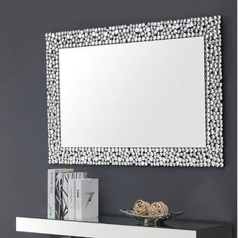 Best Quality Furniture Rectangular Crystal Wall Mirror Wayfair