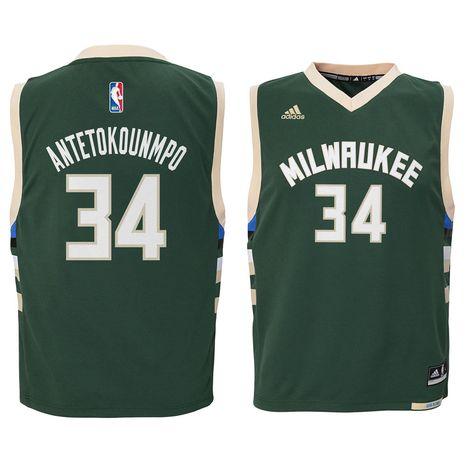 Giannis Antetokounmpo Milwaukee Bucks adidas Toddler Replica Jersey - Green e830a1d81