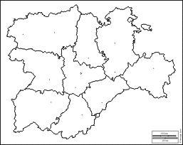 Mapa Castilla Y Leon En Blanco.Castilla Y Leon Mapas Gratuitos Mapas Mudos Gratuitos