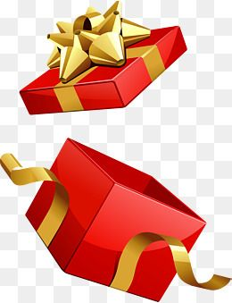 Red Gift Box Vector Gift Clipart Open Empty Png And