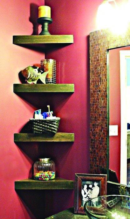 Fabulous Corner Glass Shelves For Living Room For Your Cozy Home