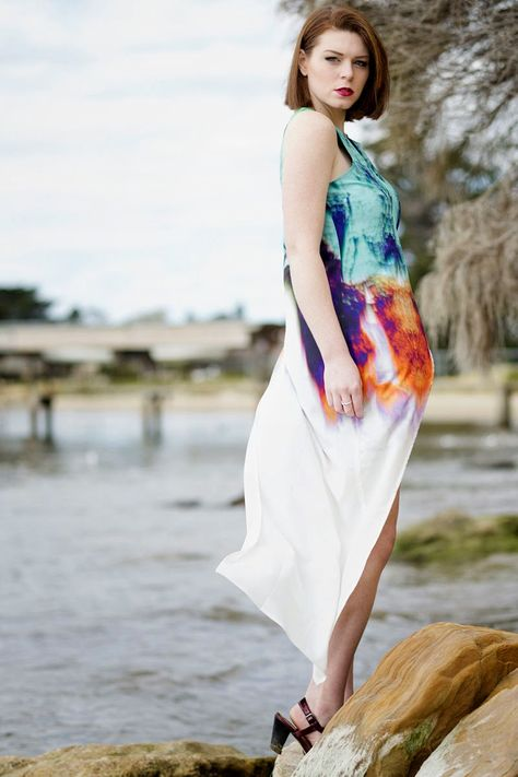 Spotted | Our Liquid Lava Dress as seen on www.jessicaemily.net