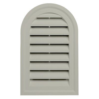Ply Gem 22 X 14 Plastic Round Top Louver Gable Vent In 2020 Gable Vents Granite Colors Entry Way Design