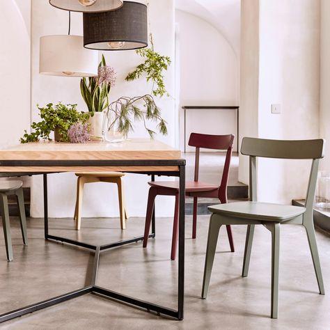 Suspension Cylindrique En Tissu Blanc D40cm Alinea Chaises Bois Tissu Blanc Et Table Salle A Manger