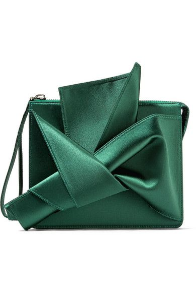 862d72e7a0d82 21 - Knot satin clutch in 2019 | bags & wallets | Green clutch bags, Green  clutches, Green purse