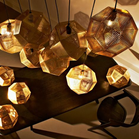 Etch Pendant Brass Pendant Lamp Metal Chandelier Modern Lamp Shades