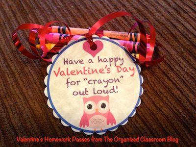 Classroom Freebies: Valentine Gift Tags and Homework Passes