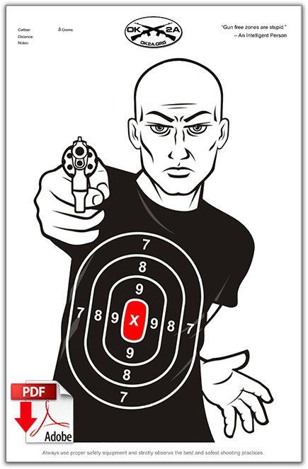 Printable Shooting Targets   Oklahoma 2nd Amendment Association Paper Shooting Targets, Paper Targets, Shooting Guns, Shooting Range, Hunting Rifles, Archery Hunting, Deer Hunting, Pistol Targets, Archery Targets