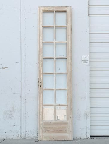 Single 14 Lite Whitewashed Wood French Door In 2020 Wood French Doors Whitewash Wood Wood Doors