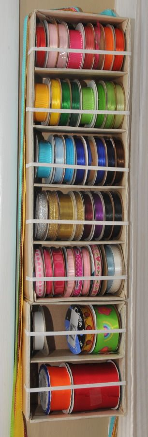 Diy Ribbon Spool Holder Ribbon Crafts Diy Ribbon Storage Craft