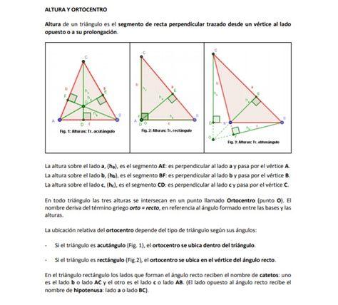 9 Ideas De Recta Y Puntos Notables De Un Triángulo Triangulos Puntos Tipos De Triangulos