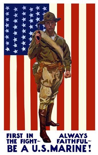 Canvas Be A US Marine Art print POSTER