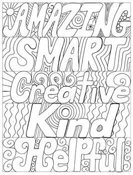 Bookmark Rewards For Positive Characteristics Quote Coloring Pages Coloring Book Pages Coloring Pages To Print