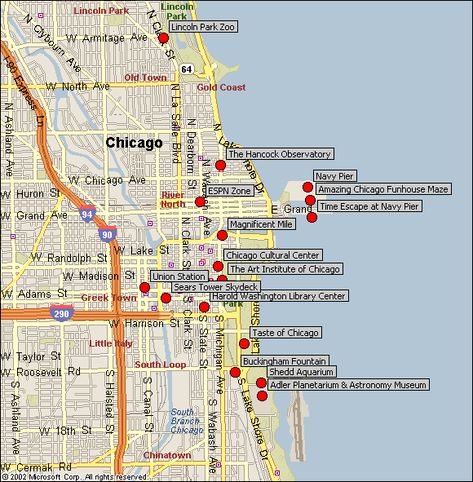Pinterest Chicago Downtown Hotels Map on