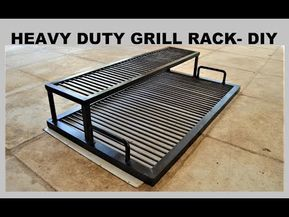 Heavy Duty Bbq Grill Rack Diy Youtube With Images Bbq