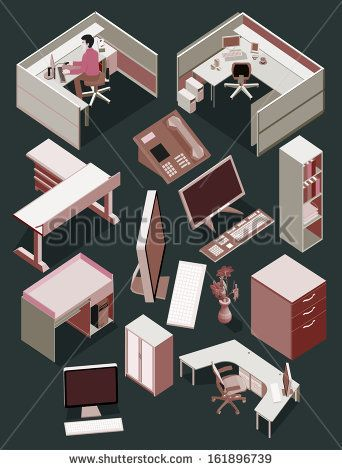 isometric office furniture vector collection. Isometric Office Furniture Vector Collection. My Popular On Shutterstock. Get It Now ! Collection
