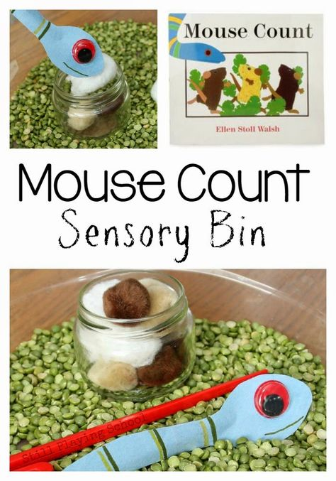 Mouse Count Sensory Bin from Still Playing School