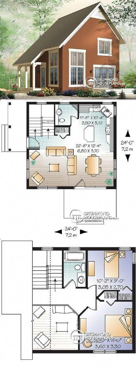 Drummond House Plans W3946 Willowgate 1050 Sq Ft Cottagebedroom Sims House Plans Drummond House Plans House Plans