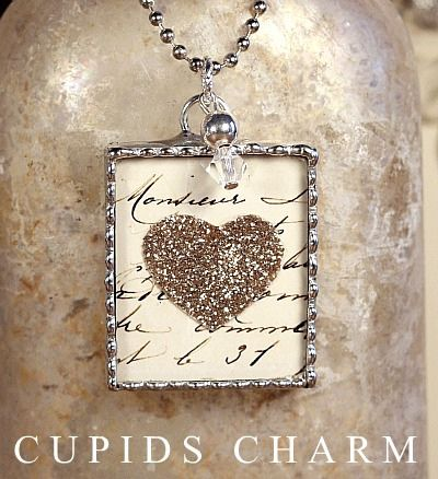Love Notes Soldered Valentines Heart Charm