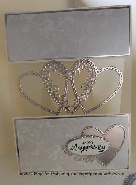 Anniversary card with hearts and transparency