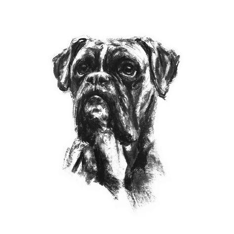 German Shepherd A4 A3 A2 Alsatian Dog dogs Art Print of painting RussellArt