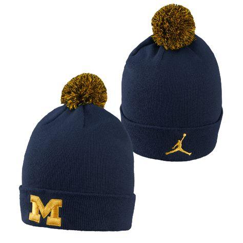 c62335cf4a623 Jordan University of Michigan Football Navy Head Coaches Dri-FIT Flex Fit  Hat