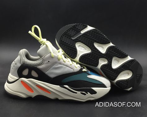 366cb22c8ef Women Men Adidas Yeezy Boost 700 Wave Runner Solid Grey Chalk White-Core  Black Outlet Top Deals