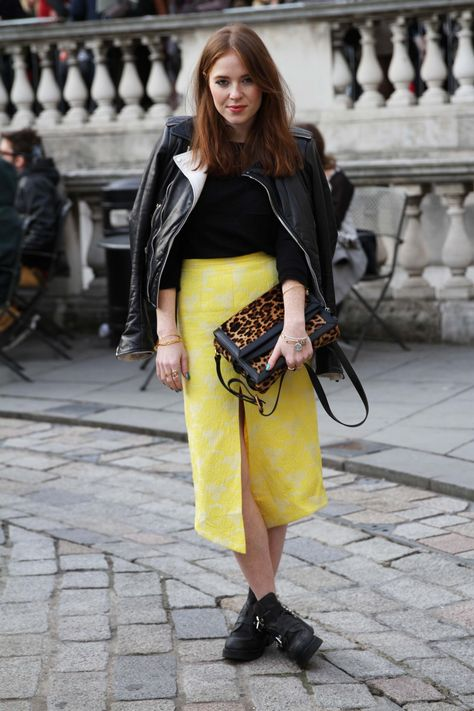 Yellow really is her colour // Style Crush // Angela Scanlon