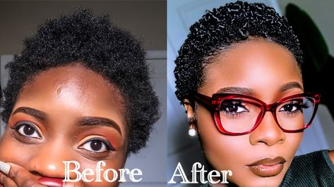 HOW TO DEFINE CURLS ON 4B/4C SHORT NATURAL HAIR (DETAILED) #NATURAL #HAIR #HOW