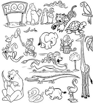 Zoo Animals Clip Art 44 Png Images For Commercial Use Zoo Animals Animals Black And White Zoo Clipart